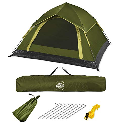 Lumaland Outdoor Leichtes Pop up Wurfzelt 3 Personen